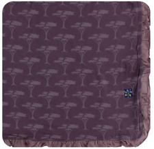 New listing New Kickee Pants Ruffle Toddler Blanket in Fig Acacia Trees (2018)