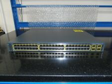 More details for cisco catalyst 3750 series ws-c3750-48ps-e 48 port poe switch ccna ccnp ccie.