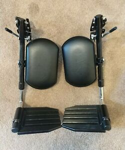 INVACARE WHEELCHAIR FOOTRESTS ELEVATING ARTICULATING CALF PADS SWING AWAY