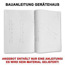 PROFI BAUANLEITUNG WANDANBAU GERÄTEHAUS GARTENHAUS BAUPLAN ANLEITUNG ÜBERDACHUNG