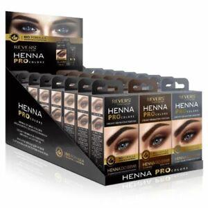 REVERS HENNA EYEBROWS TINT Professional Brow Dye Cream Black Brown Graphite 15ml