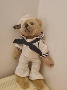 """BRASS BUTTON Bear CASEY 1999 12"""" 20TH CENTURY Navy SAILOR clothes"""
