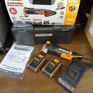 WORX WX693 18V (20V MAX) Sonicrafter Oscillating Multi Tool 2x 2.0Ah Batteries