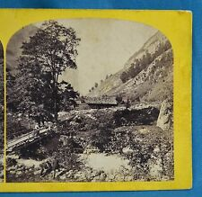 1860s Suisse Stereoview 100 Vallee De Lauterbrunnen Alpine Club England