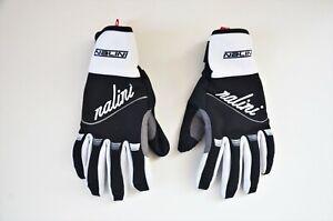 Nalini road cycling women's winter gloves black white size Medium M Italy