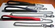 ROSEWOOD Classic PADDED HAND GRIP ' Chain Dog Lead WEIGHT / COLOUR CHOICE
