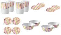 Melamine (plastic) LEAF, 16pc dinner, picnic set, beakers,plates, bowls, caravan