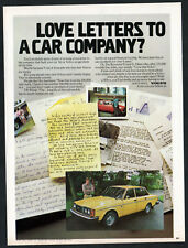 1979 VOLVO Vintage Original Print AD - Yellow car photo letters owners Canada