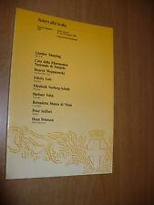 TEATRO ALLA SCALA STAGIONE SINFONICA 1989 SESTO CONCERTO FELICITY LOTT B.VOLTA