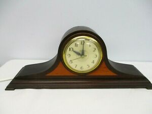ANTIQUE INGRAHAM BRISTOL CT MANTLE CLOCK ~ WAS CONVERTED TO ELECTRIC