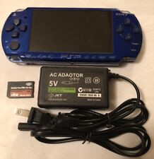 BLUE Sony PSP 2000 2001 System w/ Charger & Memory Card Bundle TESTED WORKS