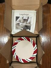 Longaberger Peppermint Twist Coasters-Set Of 4- Christmas- New