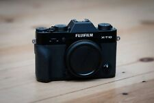 Fuji X Series X-T10 16.3MP Digital Camera - Black. Used condition BODY ONLY