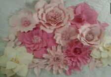 """GIANT FLOWERS Up To 18"""" FULLY ASSEMBLED WEDDING PHOTO BACKDROPS USA MADE."""