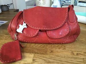 Radley Red Tote Handbag Leather