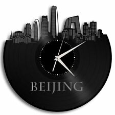 Beijing Vinyl Wall Clock Cityscape Vintage Home Room office Decor Unique Gift
