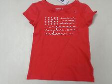 New listing Nwt Gap Kids Here Comes Summer Red Flag Ss Shirt Girls Sz Xs 4 5
