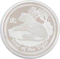 2010-P Australia Series II Lunar Tiger $2 Two Dollar Silver Proof 2oz Coin