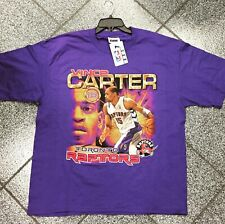 77811602 New NWT Vintage NBA Vince Carter Toronto Raptors T-Shirt TSHIRT Size Men's  XL