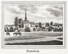 LAUTERBACH (STOLPEN) - TEILANSICHT MIT ST.-MARTIN-KIRCHE - Lithografie 1841