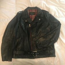 Schott PERFECTO LEATHER Jacket PER 2 VIntage MADE In USA sz Large Steerhide