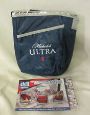 Michelob Ultra collapsible cooler with re-freezable ice for tall bottles/cans
