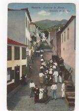 Madeira Caminho Do Monte Descide De Carros Vintage Postcard US093