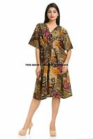 Kaftan Maxi Dress Moroccan Abaya Dubai Short Arabian Farasha One size 8-24 UK