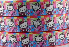 5yds 7/8'' (22mm) Hello Kitty printed grosgrain ribbon Hair bow diy Y59
