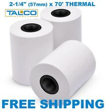 """(50) 2-1/4"""" x 70' Credit Card Thermal Receipt Paper Rolls ~Fast Free Shipping~"""