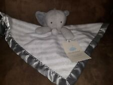 Cloud Island Gray Elephant Baby Infant Toddler Lovey Security Blanket Satin Edge