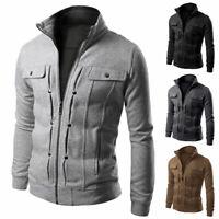 Jacket Winter Tops Collar Military New Fit Coat Stand Slim Blazer Men's Outwear