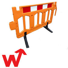 Orange Plastic Pedestrian Barrier - Crowd Control - Traffic Barrier - Chapter 8