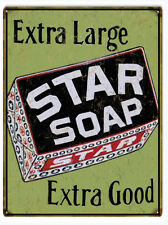 Star Soap Extra Good Country Advertisement Sign