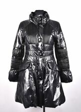 Gallotti Women Shiny Black Jacket Coat Size 44