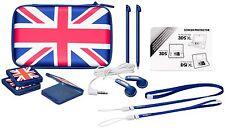 Nintendo New 3DS XL 3DSXL 3DS DSi XL Essential Pack UK blau weiß Tasche Zubehör