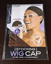 2 Pcs Wig Cap Wig Liner Wig Stocking Cap Weave Brown Nylon Stretch