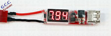 Deans T Connector Battery LED Voltage Tester With USB Charge Charging Port