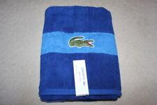 "LACOSTE CROCODILE BEACH BATH TOWEL LARGE SEWN LOGO BRAND NEW 30"" x 52"" NAVY BLUE"
