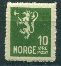NORWAY 1926/30. THE SCARCE LION 10o GREEN FORGERY. MINT NEVER HINGED: