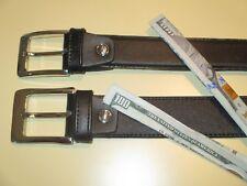 """Black Leather money belt """"Mule belt"""" 1 1 /2 inch width"""