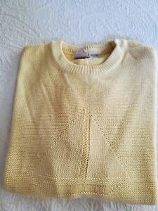 Vintage JG HOOK Cotton Crew Neck Sailboat Sweater,Size L nautical