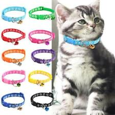 Pet Collars Small Dog Puppy Cat Adjustable Paw Printed Necklace Collar With Bell