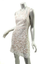 AQUA White Sleeveless Lace Crochet Dress L