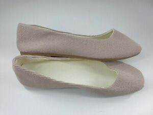 Size 8 (41) pale dusky pink fabric slip on casual flat ballet pumps