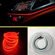 Red LED Car Dashboard Panel Ambient Light Ornament Lamp Optical fiber Door Light