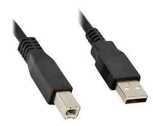 HighSpeed USB Kabel für Drucker Scanner Brother DELL HP mit Knickschutz - 1,8m