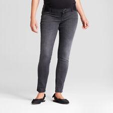 Isabel Maternity Inset Panel Skinny Jeans, Black Wash, 12