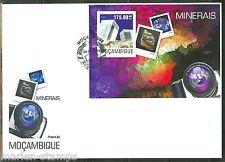 MOZAMBIQUE  2014 MINERALS  SOUVENIR SHEET FIRST DAY COVER