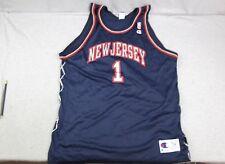 Vintage Champion New Jersey Nets  1 Blue NBA Basketball Jersey 52 a6b76f414